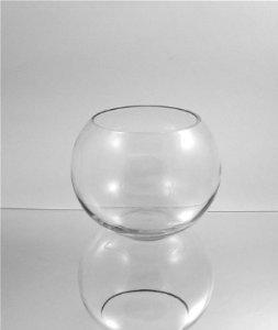 WGV Clear Round Bubble Bowl Glass Vase, 10-Inch