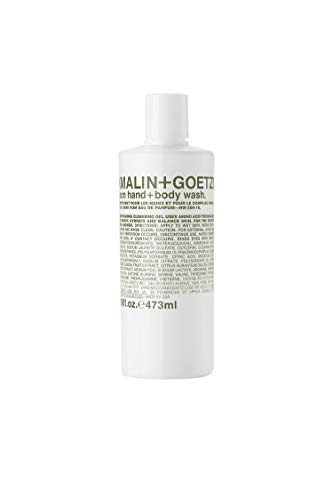 Malin + Goetz Rum Hand + Body Wash — cleansing, purifying, hydrating women and men's hand + body wash. for all skin types, even sensitive. No stripping or irritation. Cruelty-free + vegan 16 Fl oz
