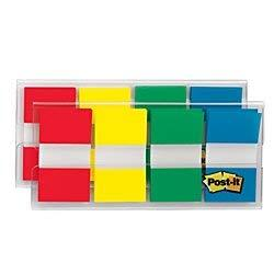 Post-It Flags With On-The-Go Dispenser - Assorted Primary Colors - 1-Inch Wide - 80/Dispenser - 2-Dispensers/Pack