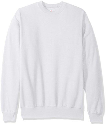 Hanes Men'S Ecosmart Fleece Sweatshirt White X Large