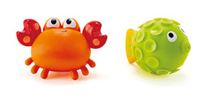 Hape Rock Pool Squirters | Colorful Baby & Toddler Bath Toys, Silicone and Non-Toxic Set, Water Spouting and Suction Crab & Fish