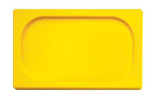 Paderno World Cuisine 12 3/4 Inches By 6 1/4 Inches Yellow Polypropylene Hotel Food Pan Lid - 1/4