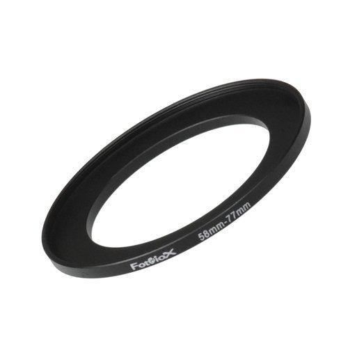 Fotodiox Metal Step Up Ring, Anodized Black Metal 58mm-77mm, 58-77 mm