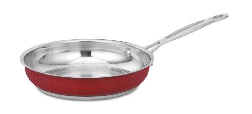 Cuisinart Cs22-20Mr Chef'S Classic Stainless Open Skillet, 8-Inch, Metallic Red
