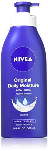 Nivea Lotion Original Daily Moisture 16.9 Ounce Pump (Normal To Dry Skin) (500Ml) (2 Pack)