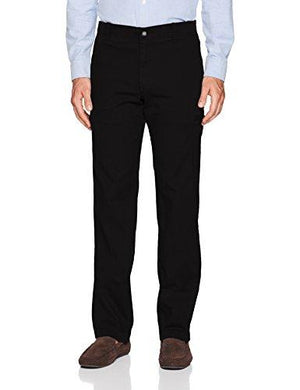 LEE Men's Performance Series Extreme Comfort Cargo Pant, Black, 42W x 34L