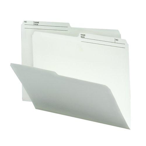 Smead Reversible File Folder, 1/2-Cut Right Printed Tab, Letter Size, Ivory, 100 Per Box (10348)
