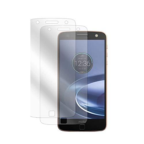 Motorola Moto Z Screen Protector, BoxWave [ClearTouch Anti-Glare (2-Pack)] Anti-Fingerprint Matte Film Skin for Motorola Moto Z