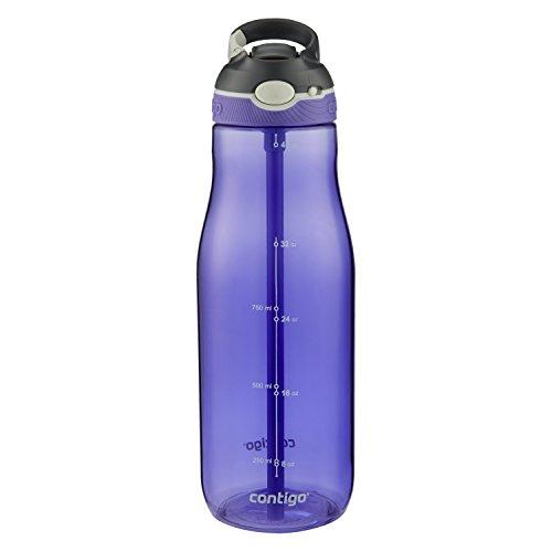 Contigo Autospout Straw Ashland Water Bottle, 40 Oz, Grapevine