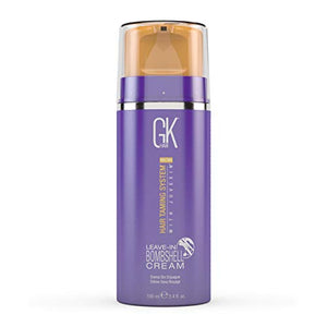 Global Keratin GKhair Leave In Bombshell Cream (100ml/ 3.4 fl. oz) | Blonde Hair Smoothing Cream Removes Yellow Brassy Tones Removes Frizz Flyaways