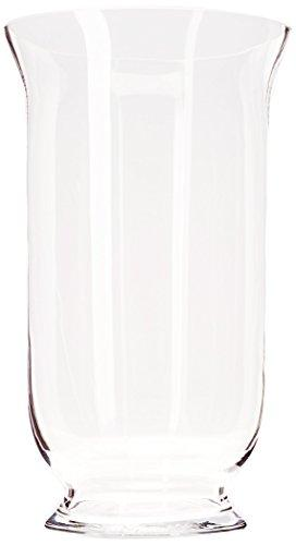 WGV Clear Hurricane Glass Vase/Candle Holder, 12-Inch