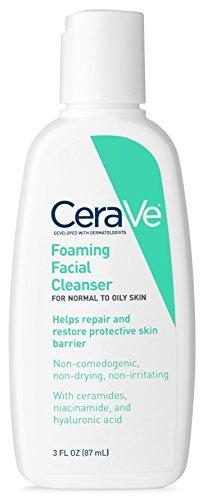 Cerave Foaming Facial Cleanser 3 Oz Travel Size Face Wash, Normal To Oily Skin