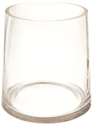 Wgv Clear Taper Up Cylinder Glass Vase, 6-Inch