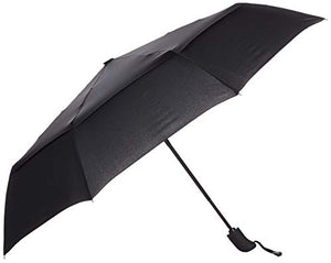 AmazonBasics Automatic Travel Umbrella, with Wind Vent, Black