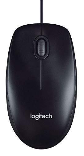 Logitech M100 Corded Mouse Wired Usb Mouse- Black