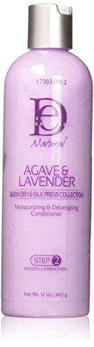 Design Essentials Agave & Lavender Moisturizing & Detangling Conditioner-Blow-Dry & Silk Press Collection - 12oz