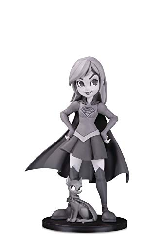 DC Collectibles Artists Alley: Supergirl (Black & White Variant) by Chrissie Zullo Designer Vinyl Figure, Multicolor