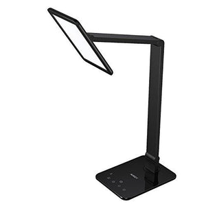 Aukey Desk Light, Rotatable Table Lamp With Extra-Large Led Panel, Dimmable Brightness, Usb Charging Port, Memory Function, Touch Sensor & Sleep Mode