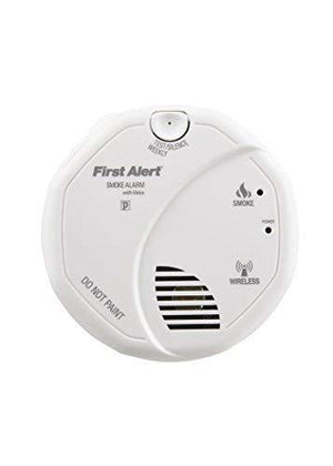 First Alert Smoke Detector Alarm Battery Powered With Wireless Interconnect 2-Pack