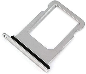 "iPhone X 5.8"" Sim Card Holder Slot Sim Card Tray Replacement Sold by Dougsgadgets (Silver)"