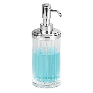 Interdesign Alston Soap Dispenser Pump For Body Moisturizer, Liquid Hand Soap, Sanitizer Or Aromatherapy Lotion - Clear/Ch