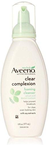 Aveeno Active Naturals Clear Complexion Foaming Cleanser 6 Oz (Pack Of 2)