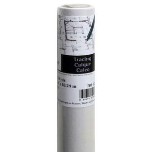 Canson Foundation Series Tracing Paper Roll For Craftwork, 25 Pound, 36 Inch X 10 Yard Roll