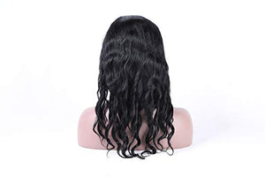 100% real human hair lace frontal wigs nice loose curly with natural hair line for women 130% density (14inch)