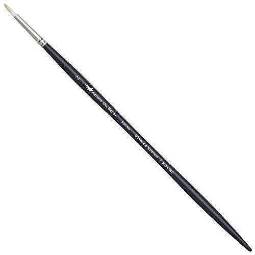 Winsor & Newton Artists' Oil Brush - Round (Long Handle) - Size #2