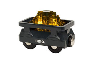Brio World - 33896 Light Up Gold Wagon | 2 Piece Wagon Toy for Kids Ages 3 and Up
