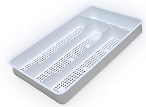 Dial Industries B694W Small Mesh Cutlery Organizer Tray, White