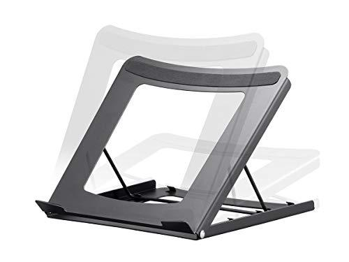 Monoprice Adjustable Folding Laptop Stand - Steel Ideal For Work, Home, Office Laptops - Workstream Collection
