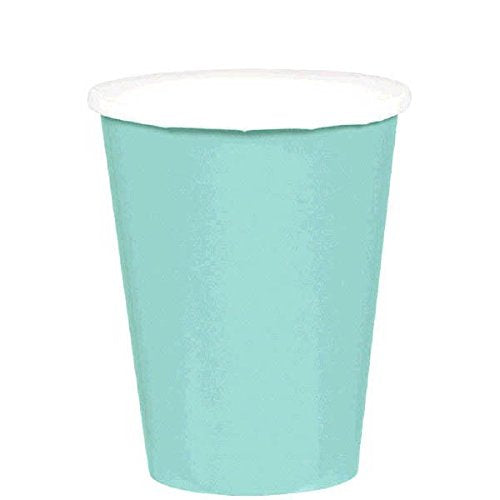 Amscan Robin'S Egg Blue Disposable Paper Cups, 9 Oz, 20 Ct.