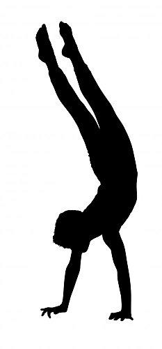 Wallmonkeys Acrobatic Gymnastics Wall Decal Peel and Stick Graphic (30 in H x 14 in W) WM201197