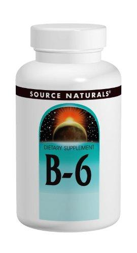 Source Naturals Vitamin B-6 50Mg - Pyridoxine Supplement - 100 Tablets