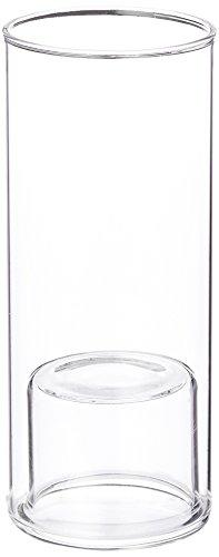 Wgv Cylinder Raised Votive Candle Holder, 2,3 By 6-Inch, Clear