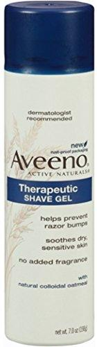 Aveeno Therapeutic Shave Gel With Oat And Vitamin E 7 Oz (Pack Of 5)