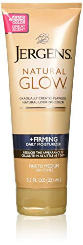Jergens Natural Glow Firming Moisturizer, Fair to Medium Skin Tones 7.5 Ounces - 2 Pack