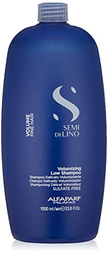 Alfaparf Milano Semi Di Lino Volume Shampoo For Fine Hair – Sulfate Free Volumizing Low Shampoo - Adds Intense Volume, Thickness and Body - Anti-Frizz - Professional Salon Quality - 33.8 fl. Oz.
