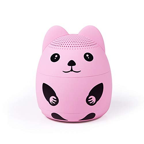 momoho Small Bluetooth Speaker - Mini Size but Great Sound Quality,up to 5 Hours Playtime,Photo Selfie Button & Answer Phone Calls,BTS0019A (Pink)
