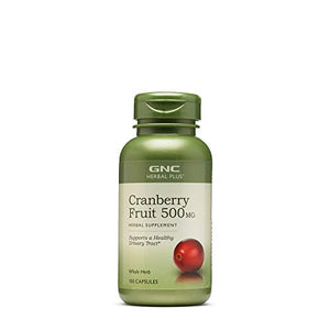 GNC Herbal Plus Cranberry Fruit 500mg, 100 Capsules, Supports a Healthy Urinary Tract