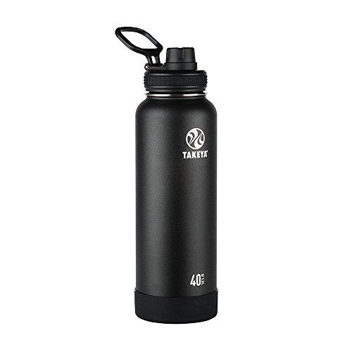 Takeya Actives Insulated Stainless Water Bottle With Insulated Spout Lid 40Oz Onyx