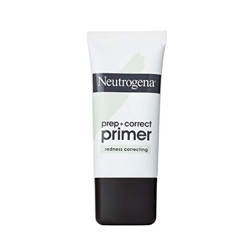 Neutrogena Prep + Correct Primer for Redness Correcting, Green-Toned Matte Makeup Primer with Seaweed Extract to Help Reduce Redness & Even Skin Tone, 1.0 oz