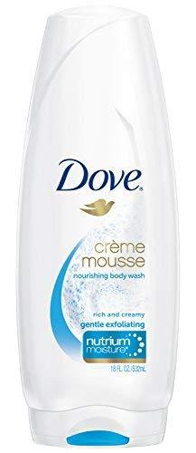 Dove - Nourishing Body Wash / Creme Mousse / Gentle Exfoliating - 18 Ounce