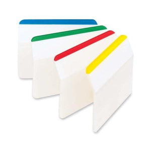 "Post-It Durable Filing Tabs 2""X1.5"" 24/Pkg-Assorted Primary Colors"
