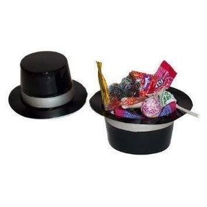 Fun Express Dozen Mini Black Plastic Top Hat Birthday Party Favor Novelty