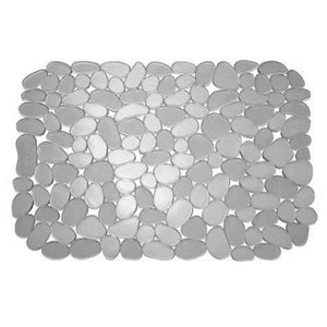 Interdesign Pebblz Sink Large Sink Mat, Graphite