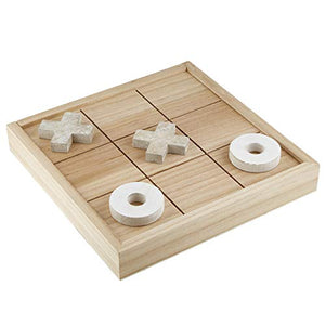 Creative Brands Heartfelt Collection - Wooden Tabletop Game With Storage, 13 X 13-Inch, Tic-Tac-Toe - Large