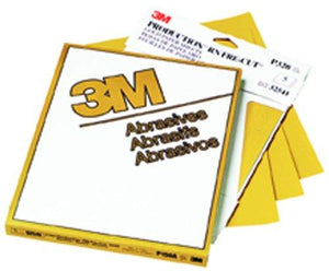 "3M 02537 Production Gold 9"" X 11"" P600A Grit Resinite Sheet"
