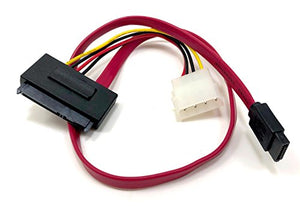 Micro Connectors, Inc. SATA Data Combo Cable with LP4 Adapter (F03-155)